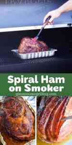 Traeger Spiral Ham Pinterest Collage