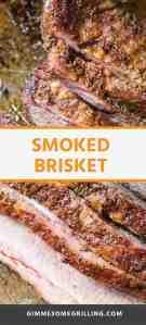 Smoked Brisket pinterest image
