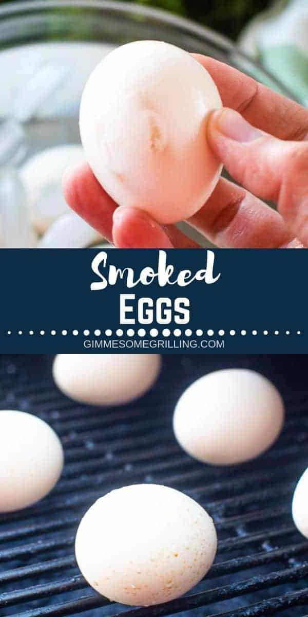 Learn exactly how to make these delicious and easy Smoked Eggs on your Traeger Pellet Grill. This recipe is great for making smoked deviled eggs, putting in your salads or eating these smoked hard boiled eggs alone. #traeger #eggs