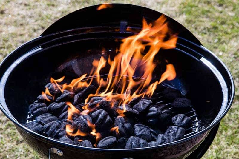 Kingsford Charcoal Lit in grill Landscape