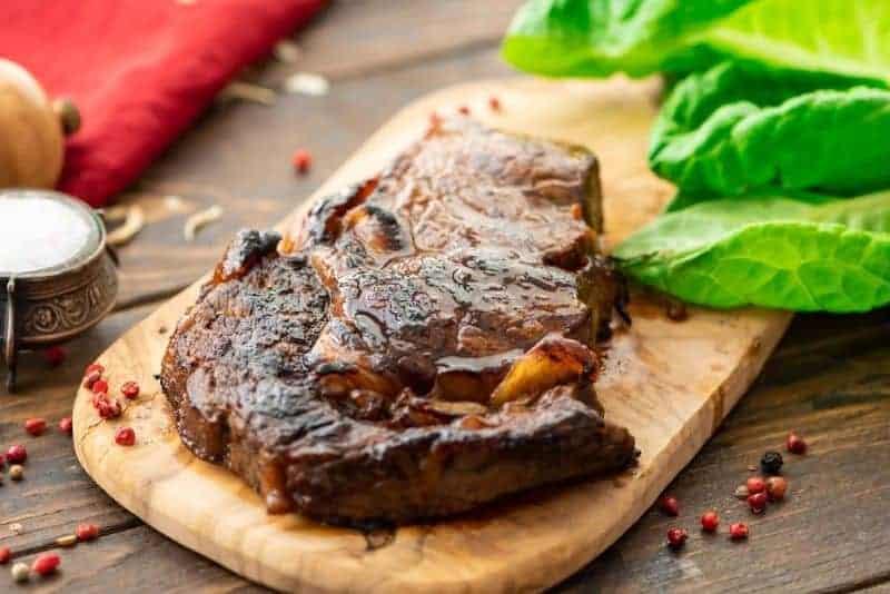 Picture of Steak prepared in steak marinade