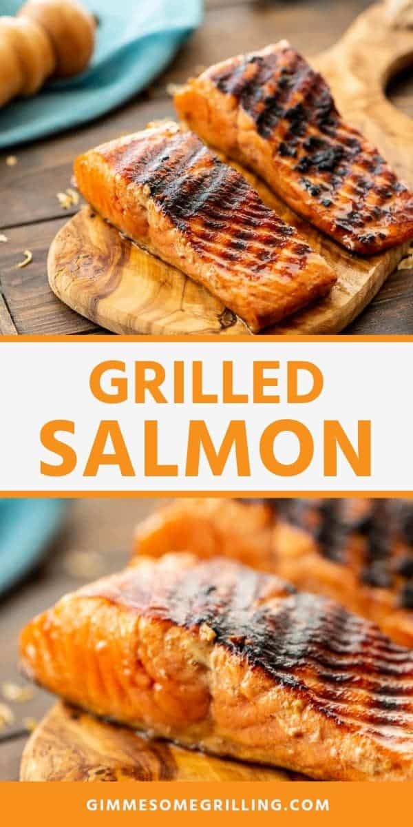 Grilled Salmon is a delicious, healthy dinner on the grill! It's packed with flavor from the marinade and delicious. If you love salmon you will love this grilled salmon recipe. #salmon #recipe