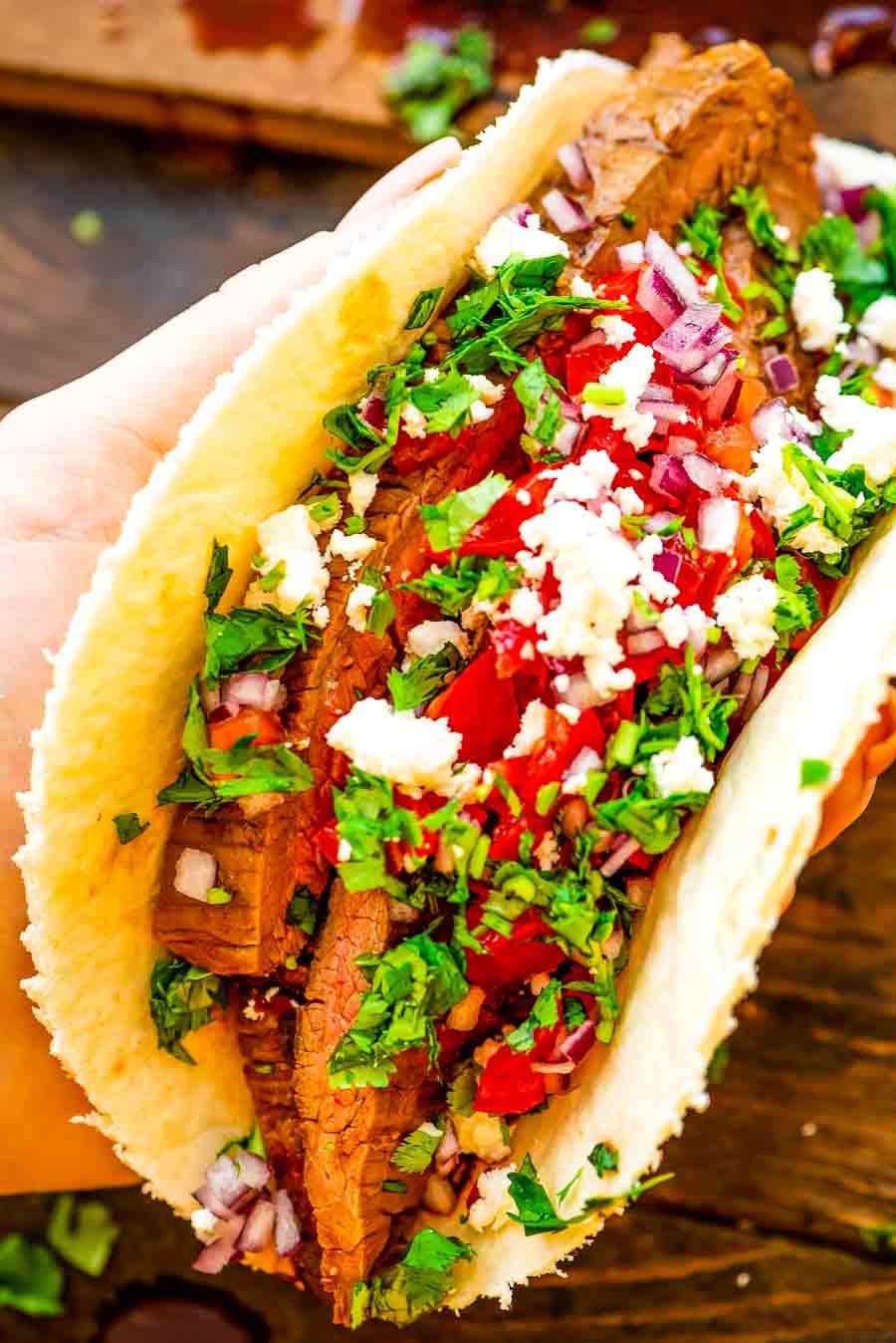 Easy Steak Taco Recipe prepared