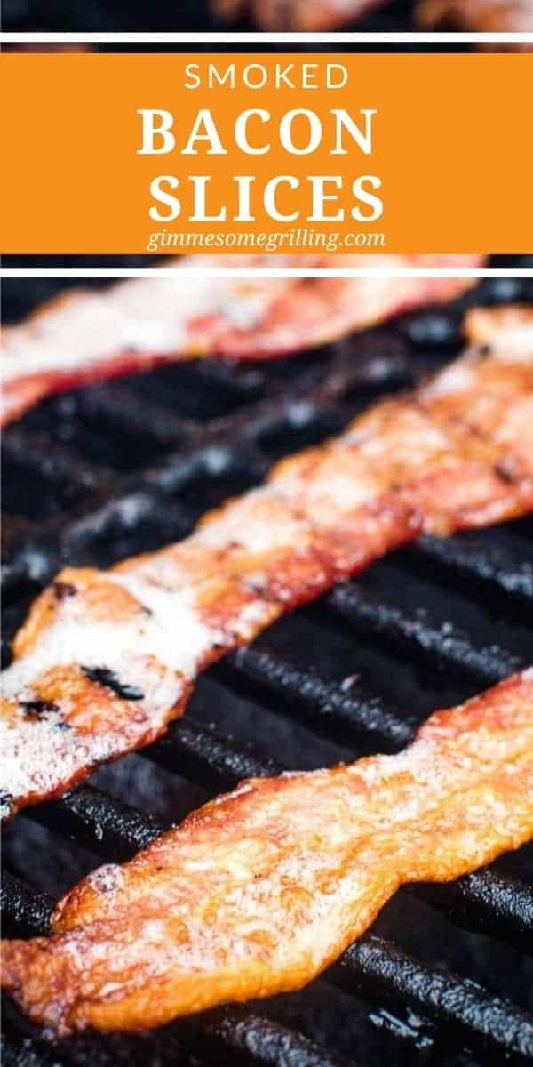 Quick and easy Smoked Bacon Slices are perfect for breakfast or topping your sandwiches or burgers. They take 30 minutes and you get perfectly crispy, smokey bacon slices that are delicious. #smoker #bacon via @gimmesomegrilling