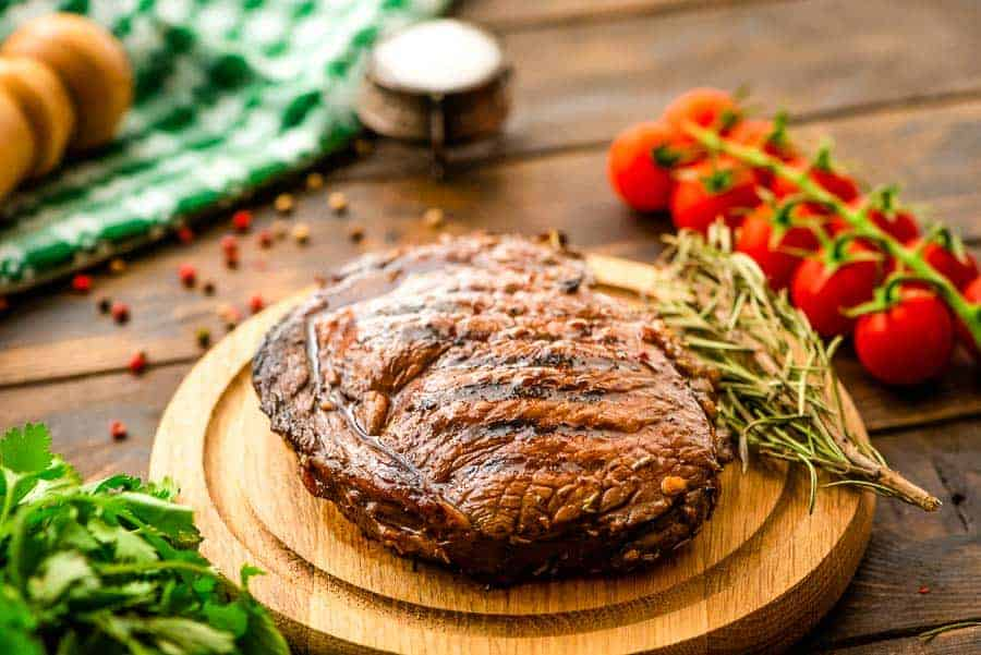 Balsamic Steak prepared in Marinade