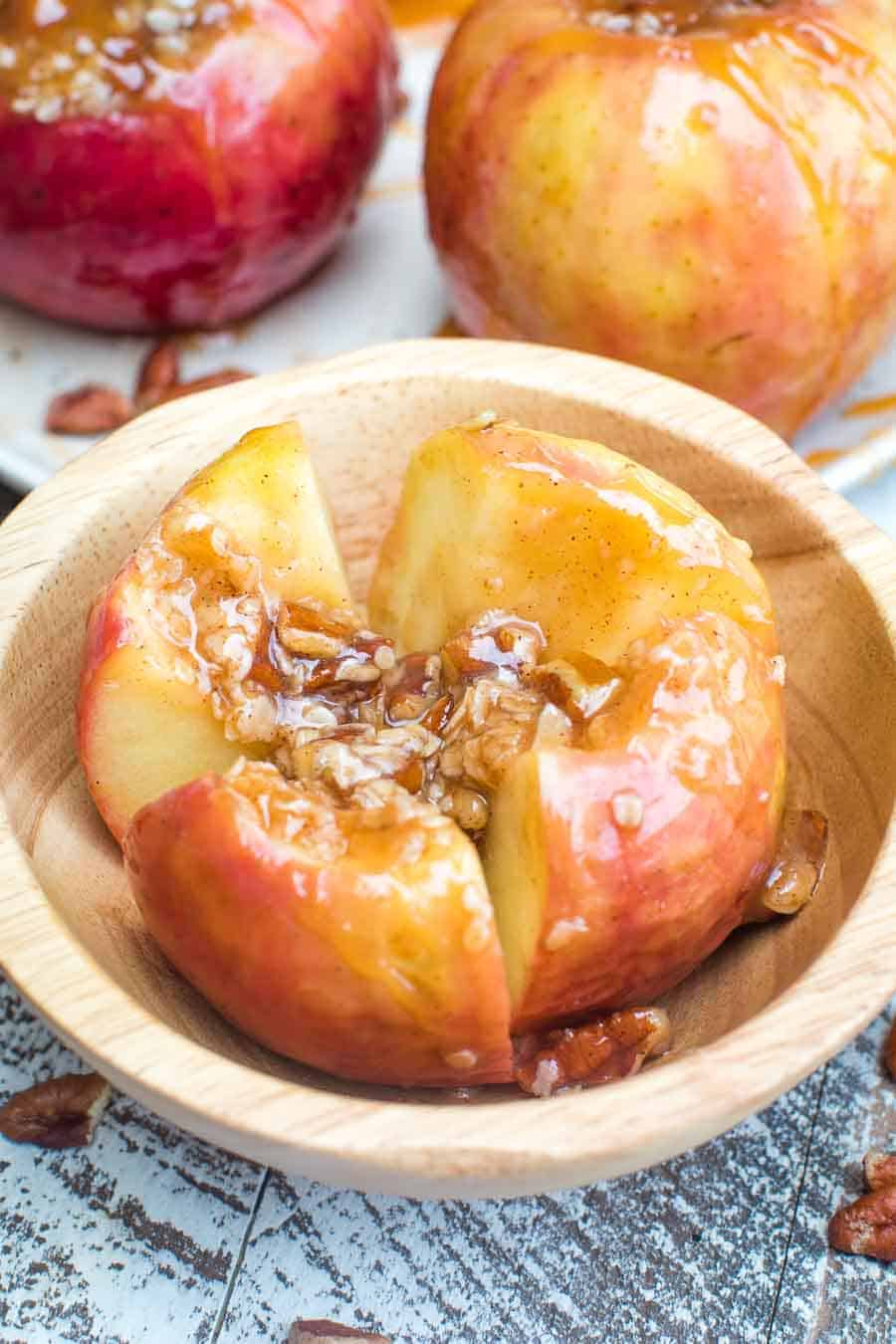 Easy Grilled Baked Apples in bowl