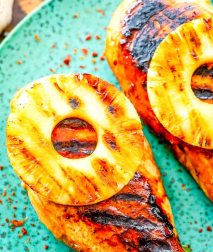 Grilled Pineapple Chicken cooked
