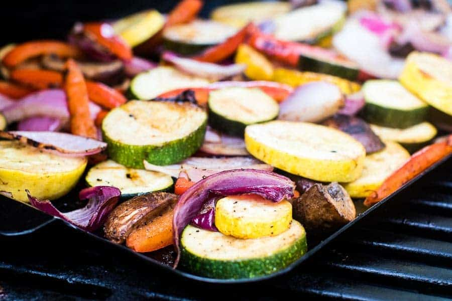 Grilled Vegetables on grill pan