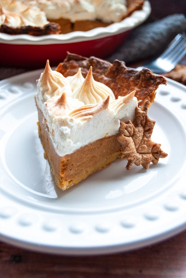 Marshmallow Meringue Spiced Rum Pumpkin Pie