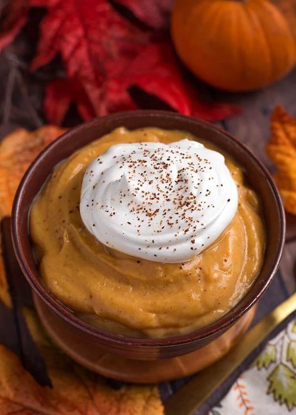 Quick pumpkin pie pudding