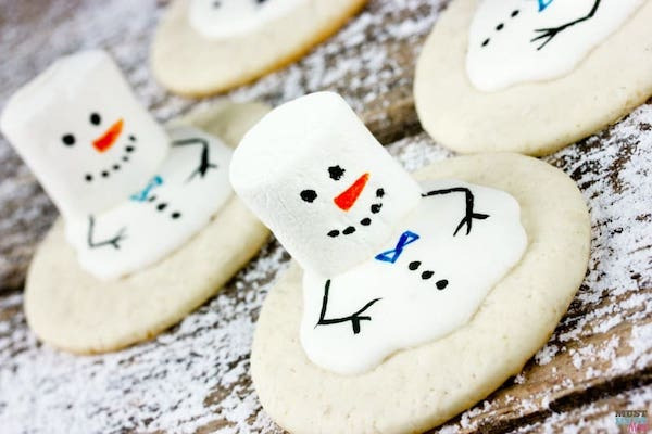 Melting snowman cookies recipe