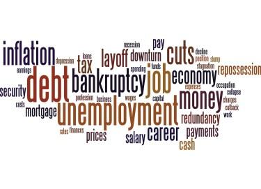 Woed Cloud economy unemplyment job debt money tax