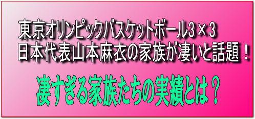 【山本麻衣】東京オリンピックバスケットボール3×3代表の家族が凄いと話題!