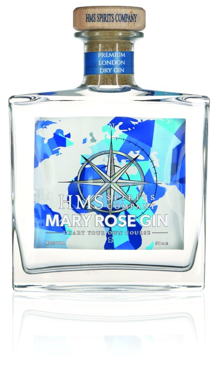 HMS Spirits Mary Rose Gin - Front