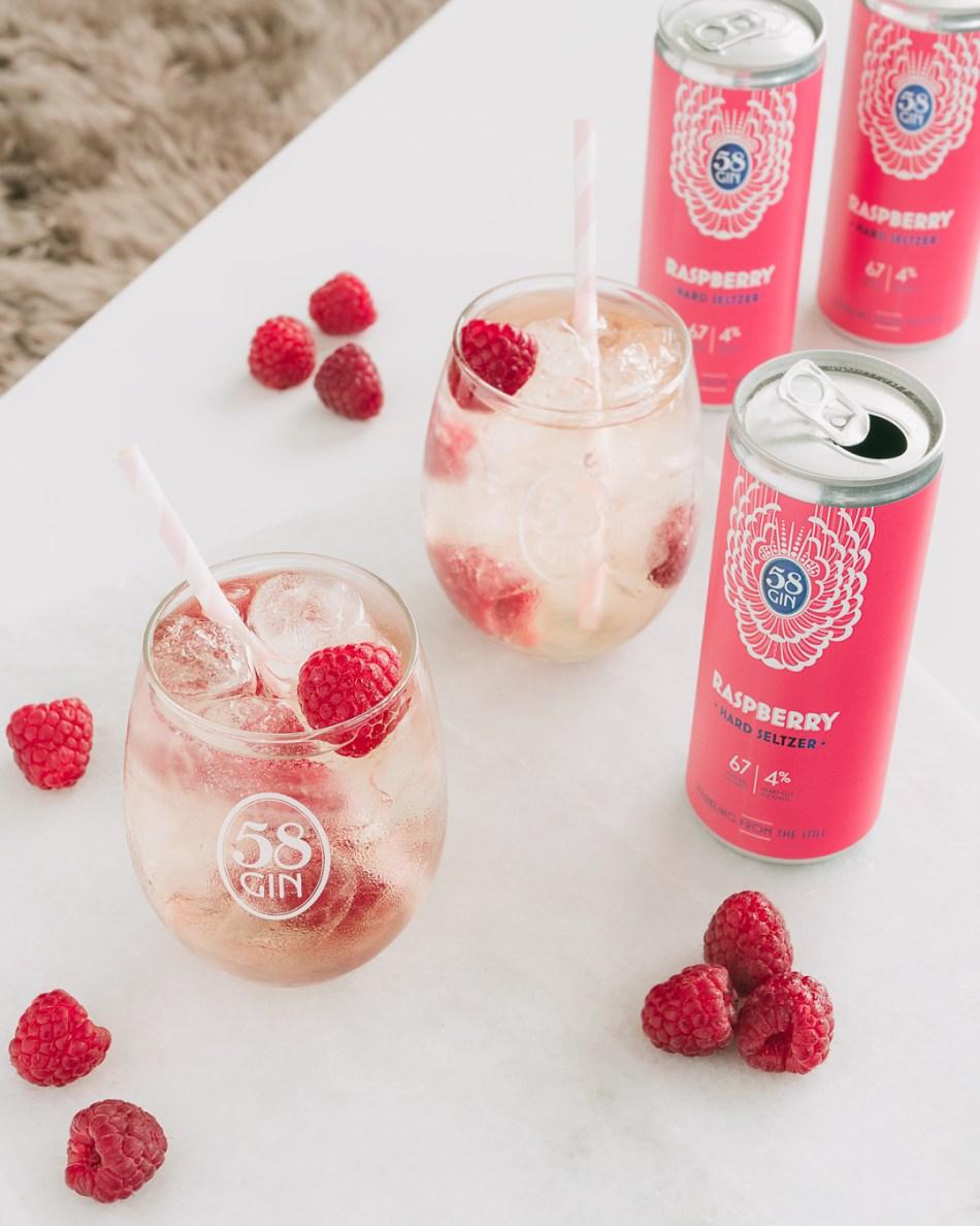 58 Gin seltzer Raspberry