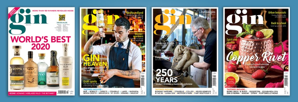 Group of 4 back issues of Gin Magazine