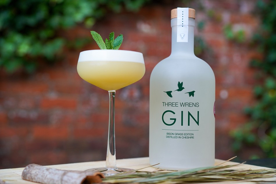 A cocktail made with Bison Grass Gin