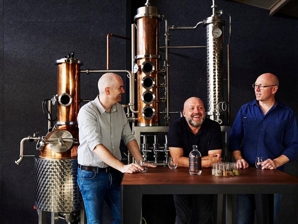 The Four Pillars distillery team at the distillery