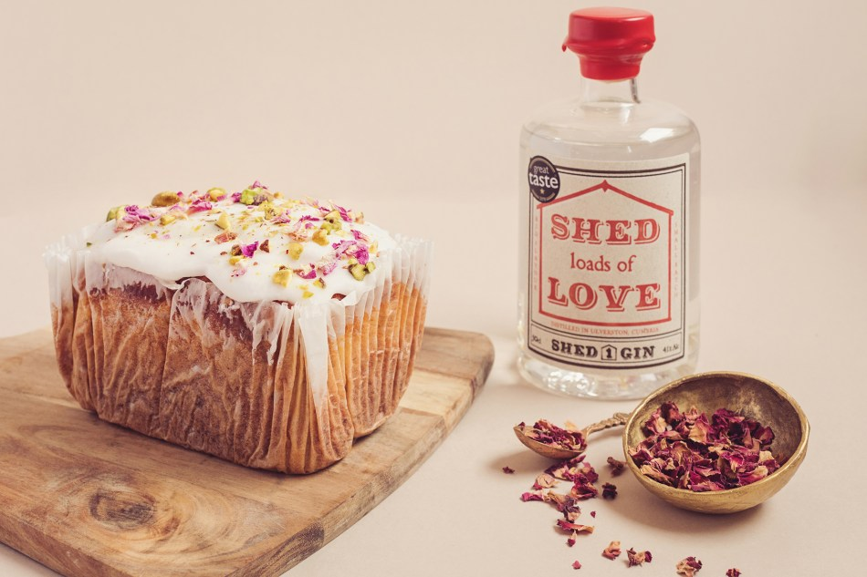 The Valentine's Day cake with Shed Loads of Love Gin drizzle