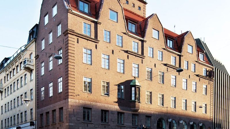 Hernö Gin bar building in Stockholm