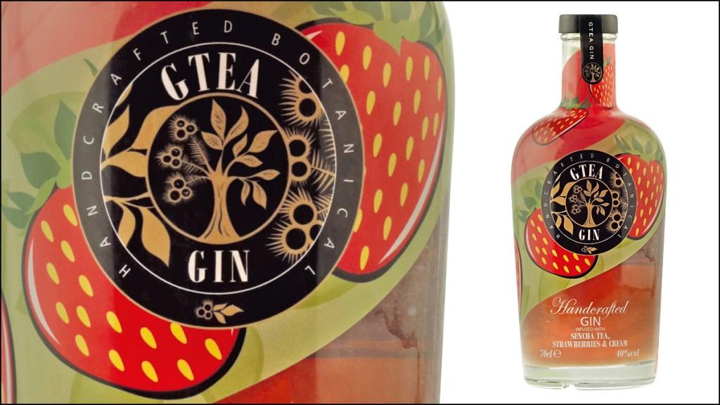 GTEA Gin Sencha Tea, Strawberries and Cream