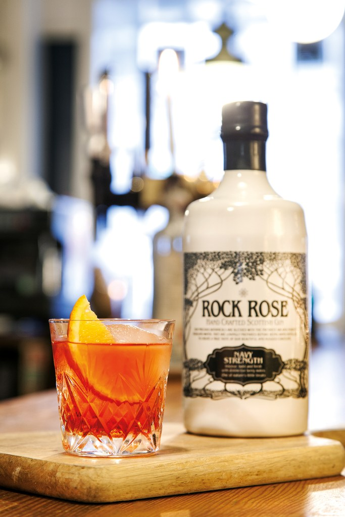 A cocktail with Rock Rose Gin