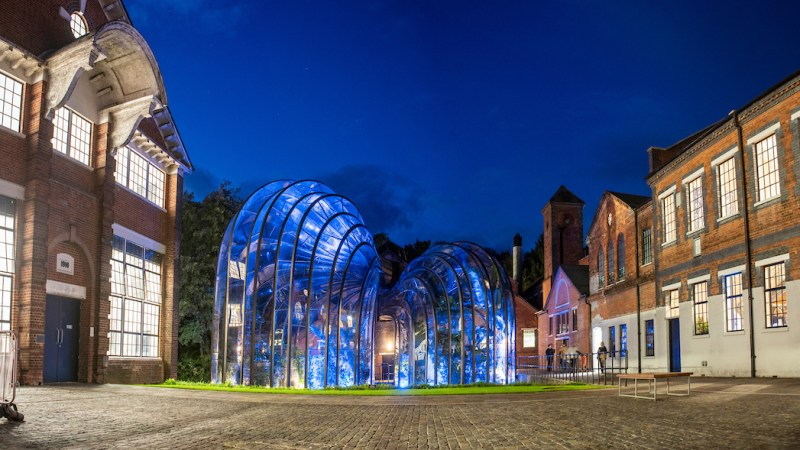 The glasshouses at Bombay Sapphire's Laverstoke Mill