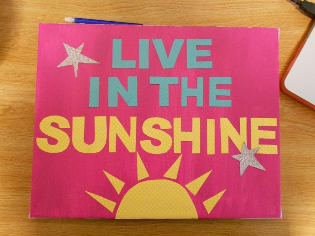 Live in the Sunshine Wall Art