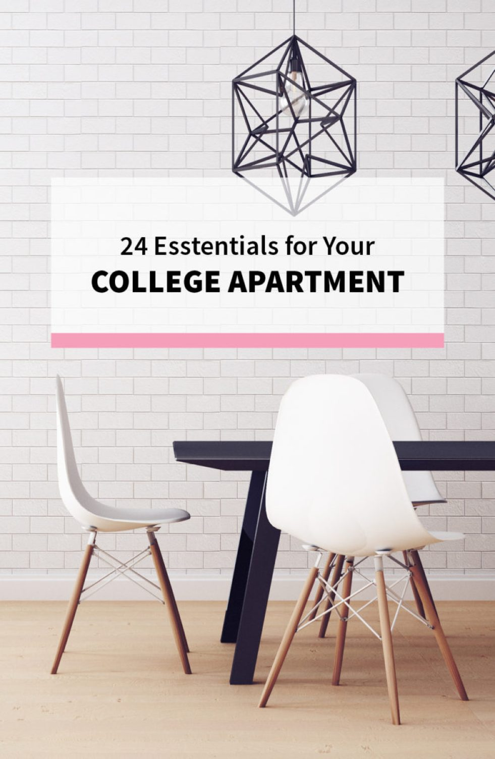 24 Essentials for Your College Apartment - Kitchen, Room & Decor