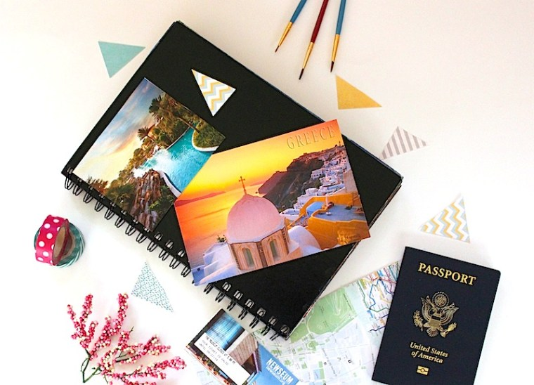 Travel Diary Supplies: Postcards, Tickets, Photos