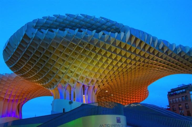 Metropol Parasol in Seville at Sunset