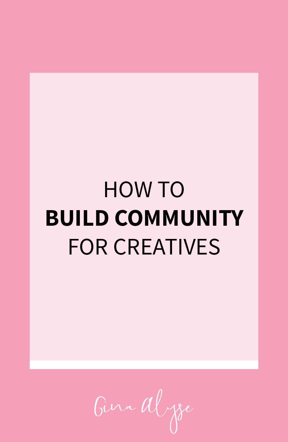 How to Build a Community as a Creative Professional