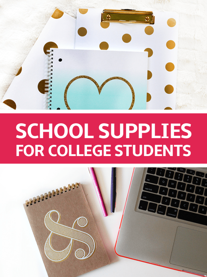 Epic School Supplies for College Students