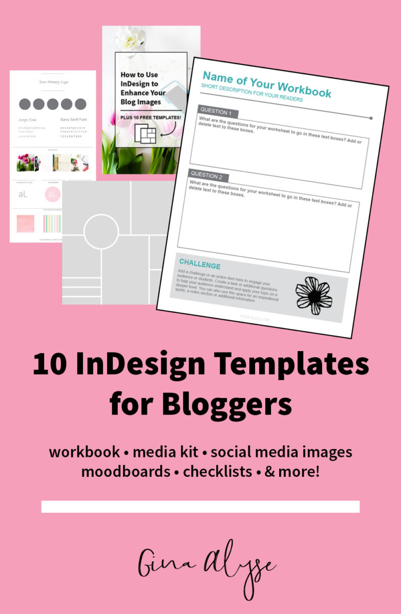 10 Free InDesign Templates for Bloggers for Content Upgrades