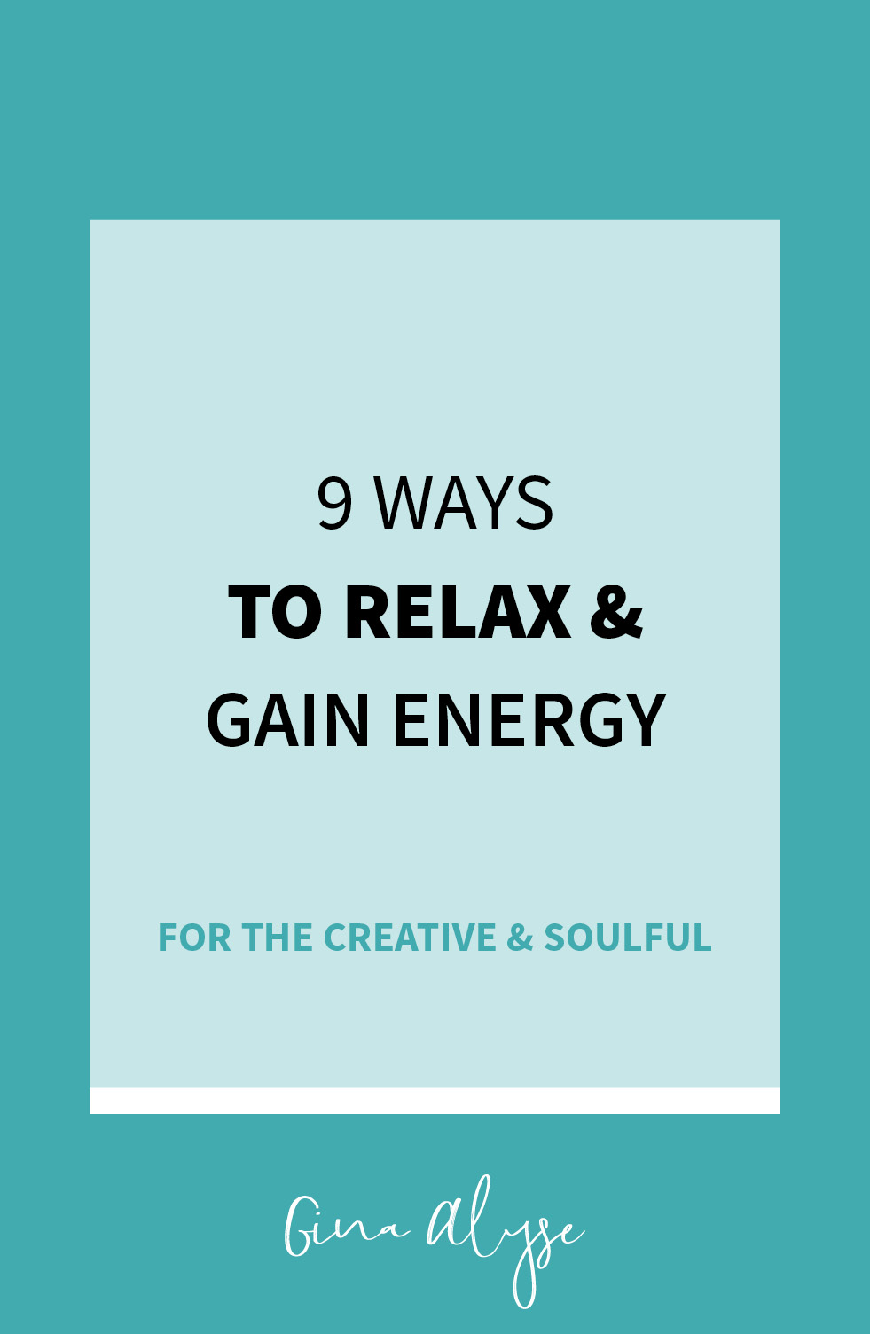 9 Ways to Relax & Regain Energy