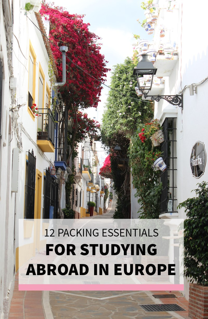 What to Pack for Studying Abroad in Europe