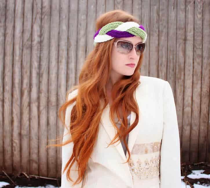 Diy Braided Headband Knitting Pattern Gina Michele
