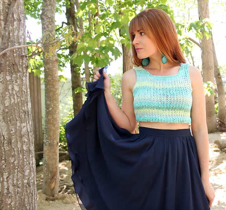 crop top [knitting pattern] - Gina Michele