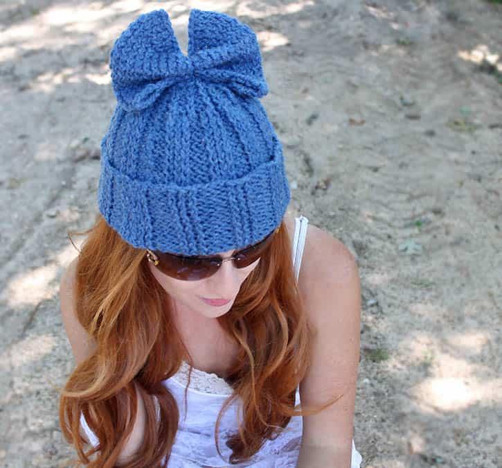 Bow Hat Knitting Pattern Gina Michele