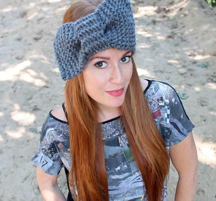Bow Headband Knitting Pattern Gina Michele