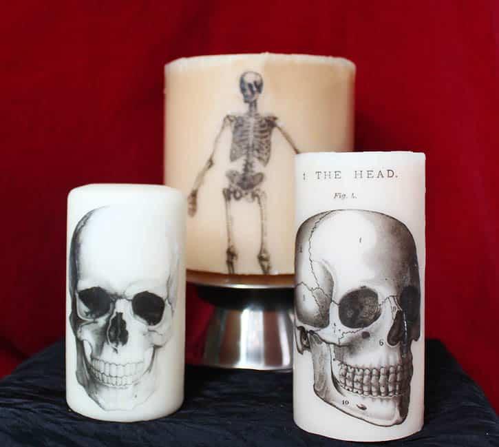 DIY Printed Halloween Candles