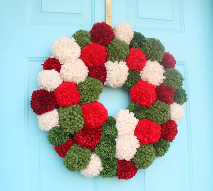 DIY Pom Pom Wreath- Inspired by Anthropologie