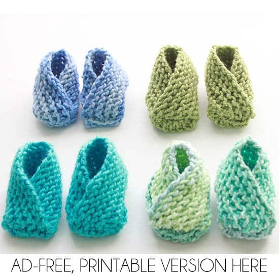 Very Easy Knit Baby Booties Knitting Pattern Gina Michele