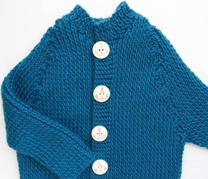 e670662cfd9 Ribbed Baby Cardigan [knitting pattern] - Gina Michele