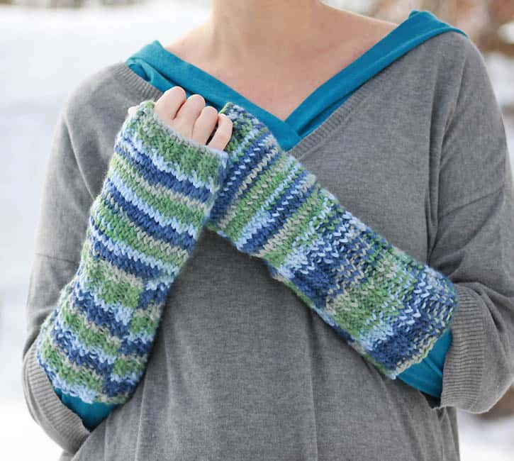 Fingerless Gloves Knitting Pattern Gina Michele