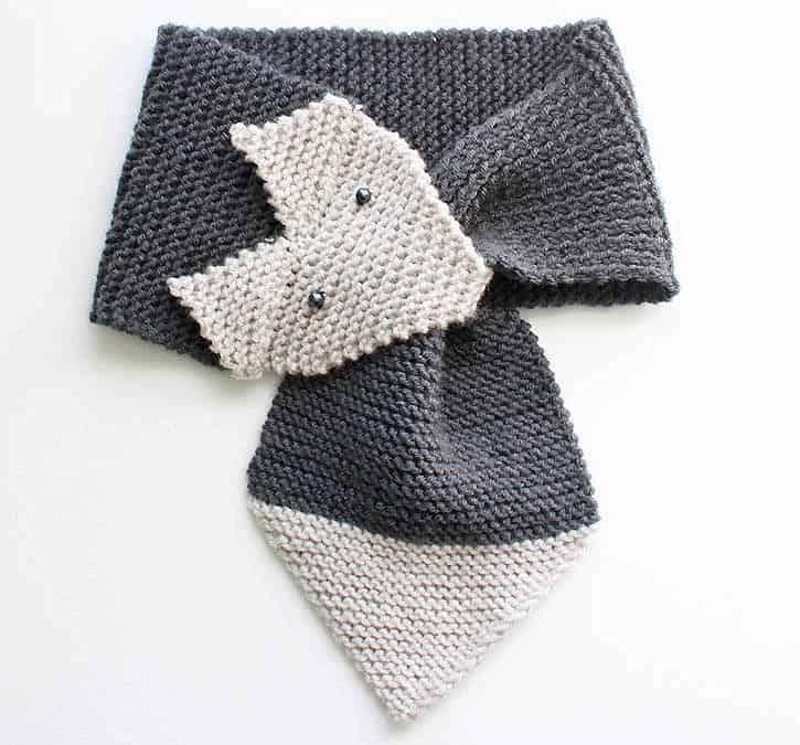 be5acc2f9cc6cd Fox Scarf Knitting Pattern- women & child sizes - Gina Michele