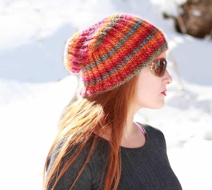 Sherbert Slouch Beanie Knitting Pattern Gina Michele