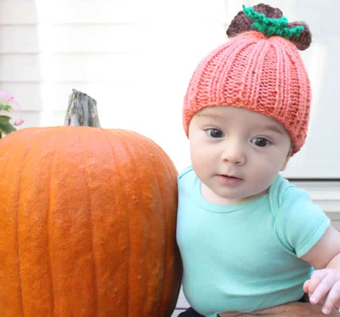 Baby Pumpkin Hat Knitting Pattern - Gina Michele 2da851dae4e