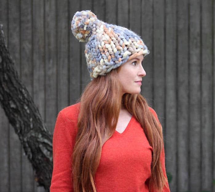 Super Chunk Hat Knitting Pattern Gina Michele