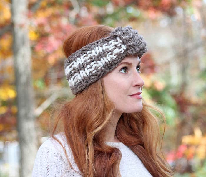 Easy Stripe Headband Knitting Pattern Gina Michele